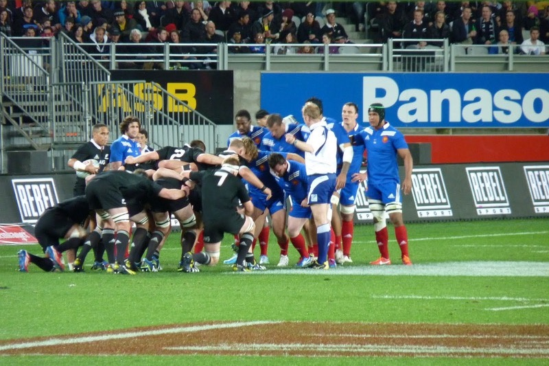 All Backs vs France at the Eden Park