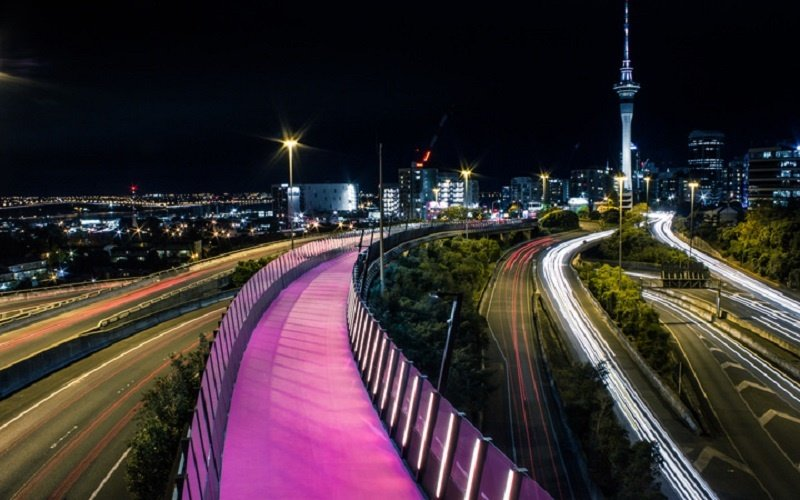 Auckland pink cycle path