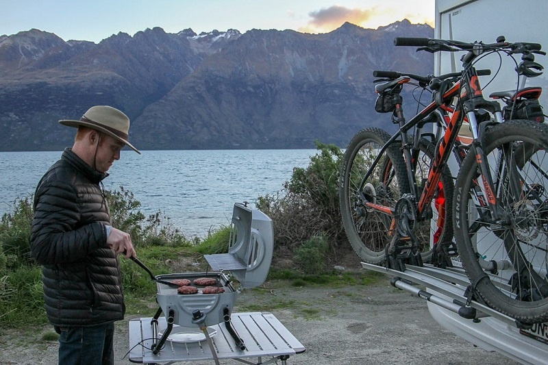 Barbecue included in a campervan rental