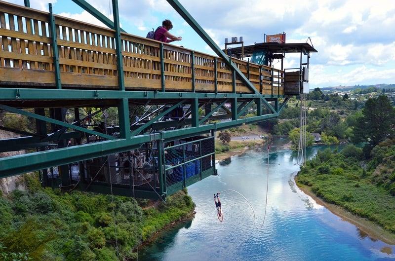 Bungee jumping at Taupo