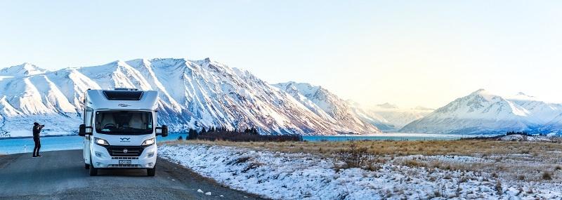 Capturing Tekapo morning light during a motorhome road trip