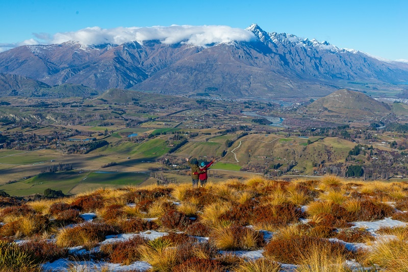 Couple motorhome holiday in New Zealand