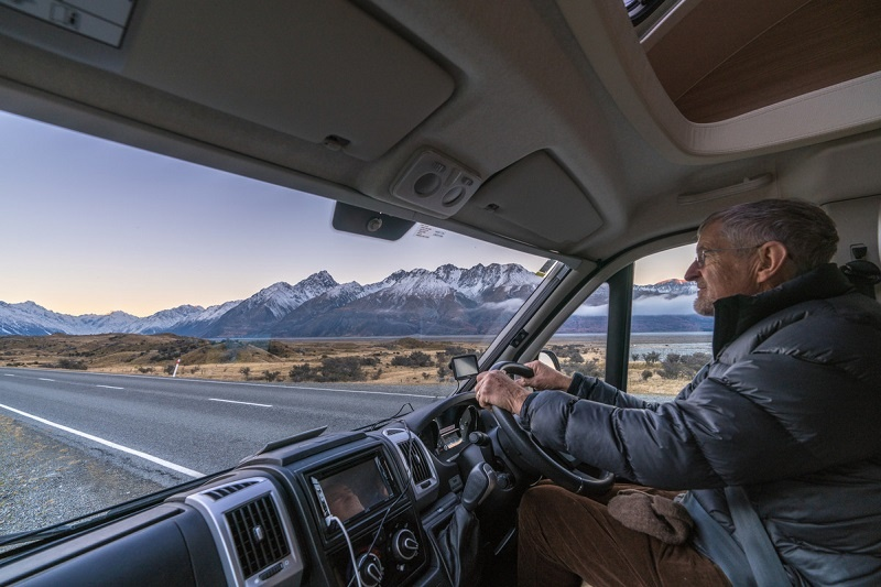 Driving a motorhome in New Zealand
