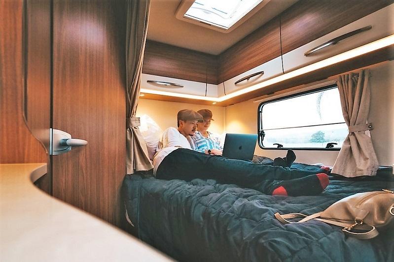 Enjoy confort in your motorhome for your New Zeland honeymoon