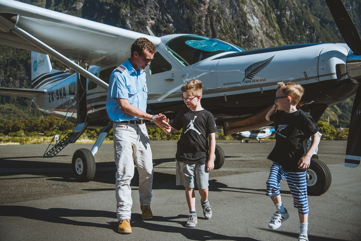 Family Travel New Zealand - Scenic flight with the kids