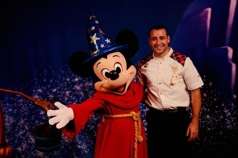 Fernando with Mickey at Disney World Florida