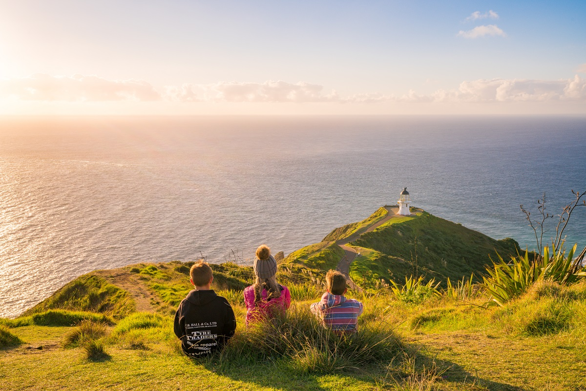 Golden afternoon Cape Reinga