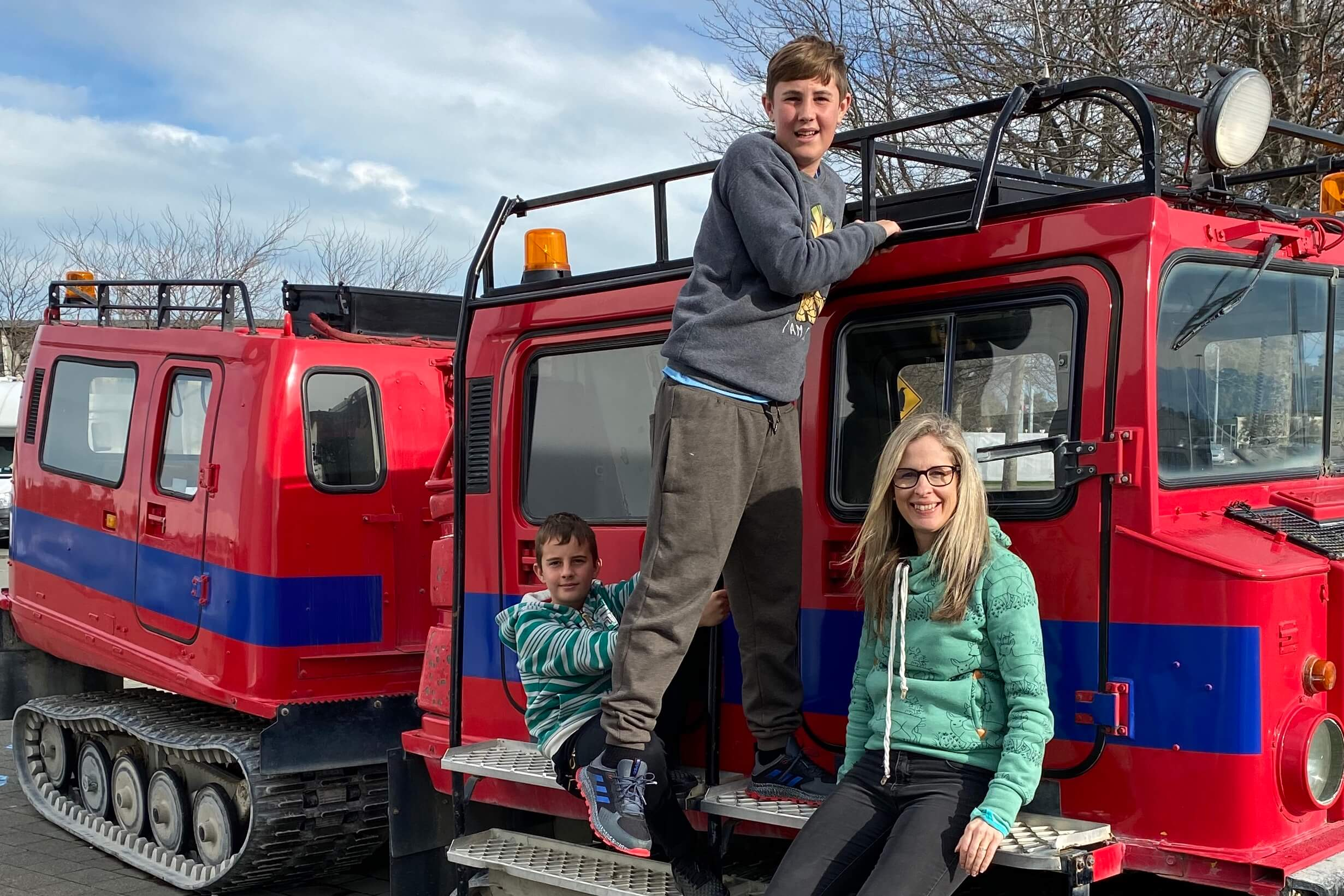 Family exploring Antarctic Centre in Christchurch
