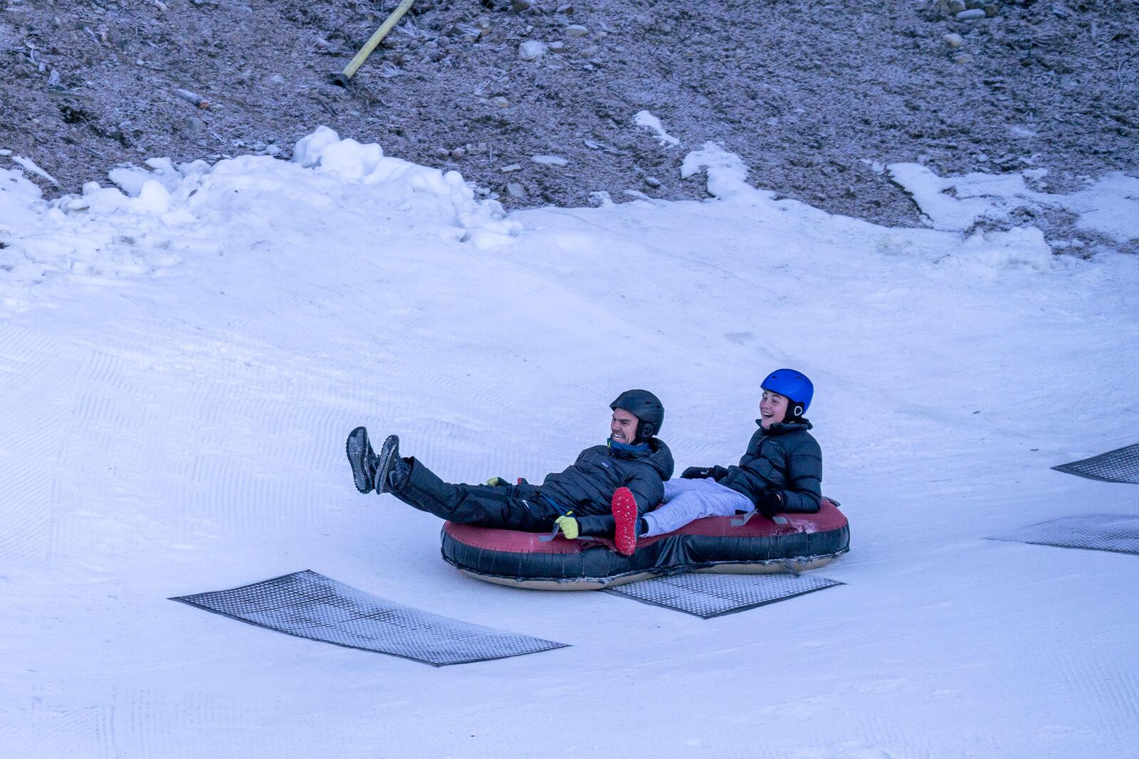 tweens snow tubing in tekapo