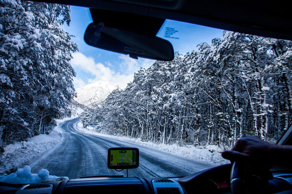driving a wilderness motorhome in New Zealand winter