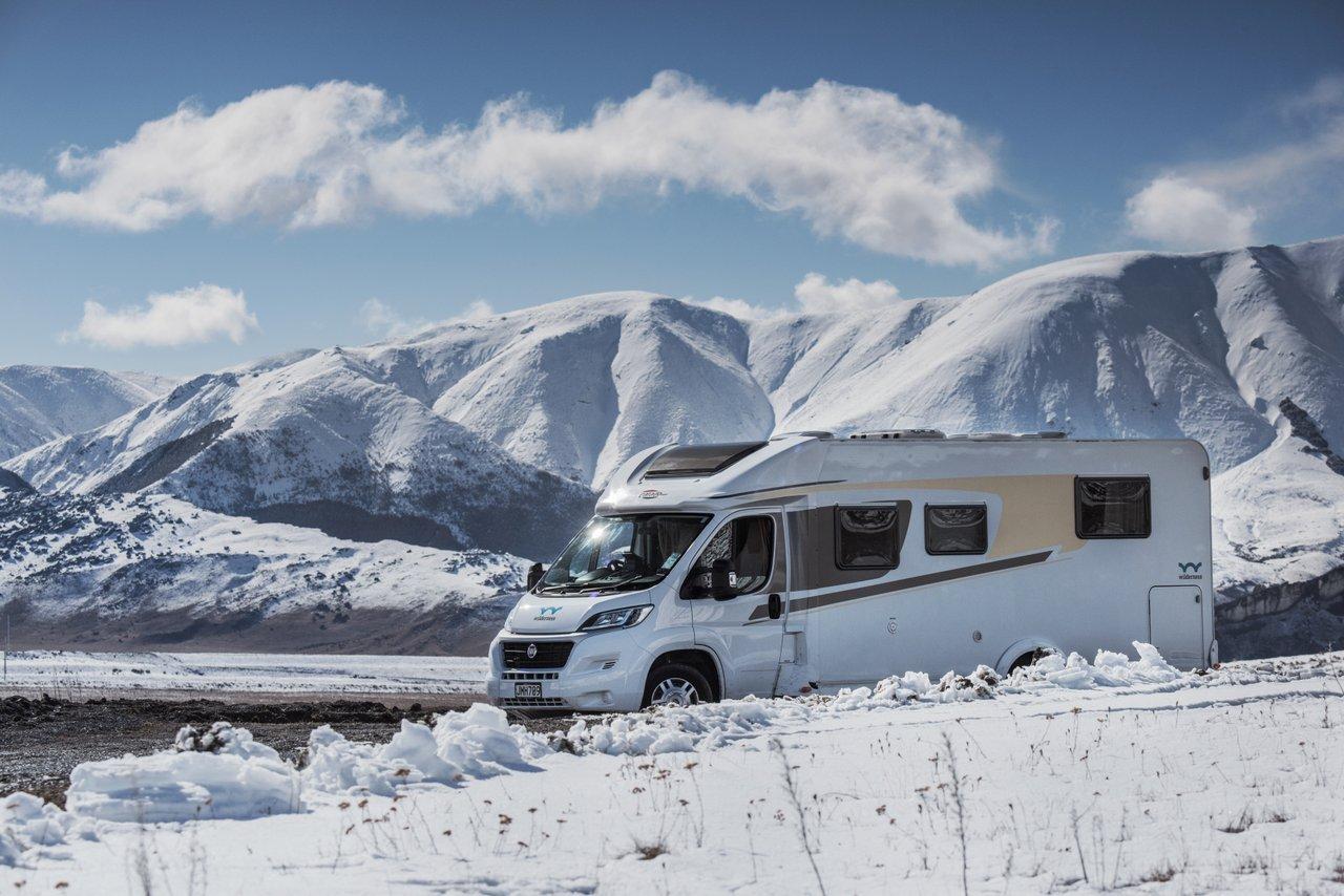 wilderness motorhome in winter