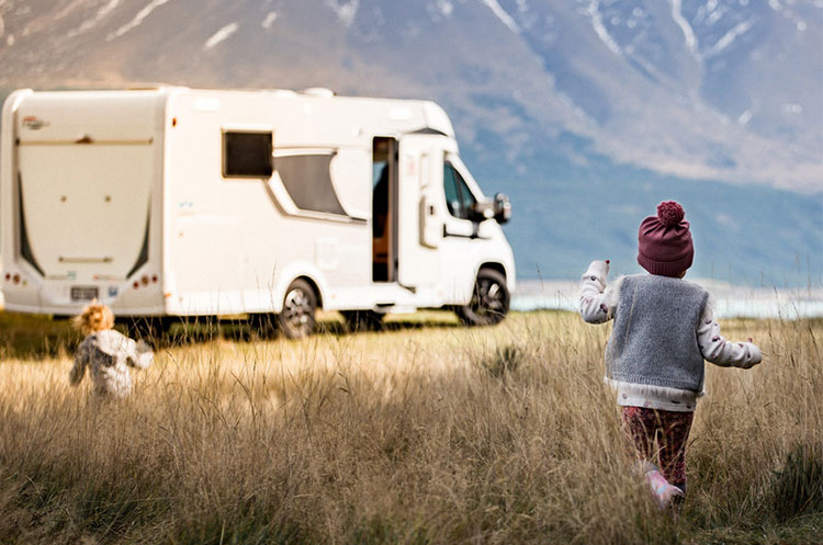 children on a motorhome staycation