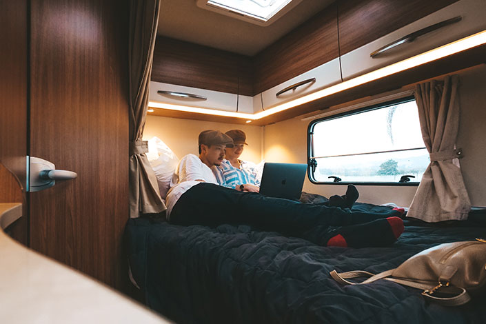 Enjoy Wilderness Motorhomes' comfortable beds