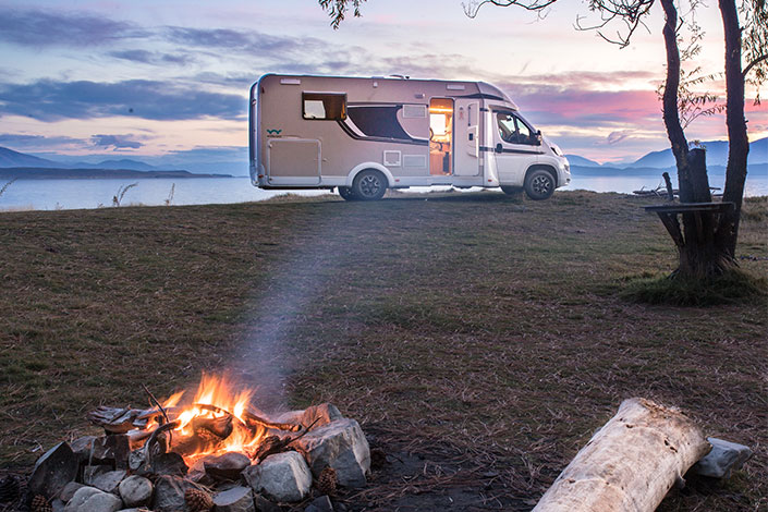 Stay warm in a Wilderness Motorhome