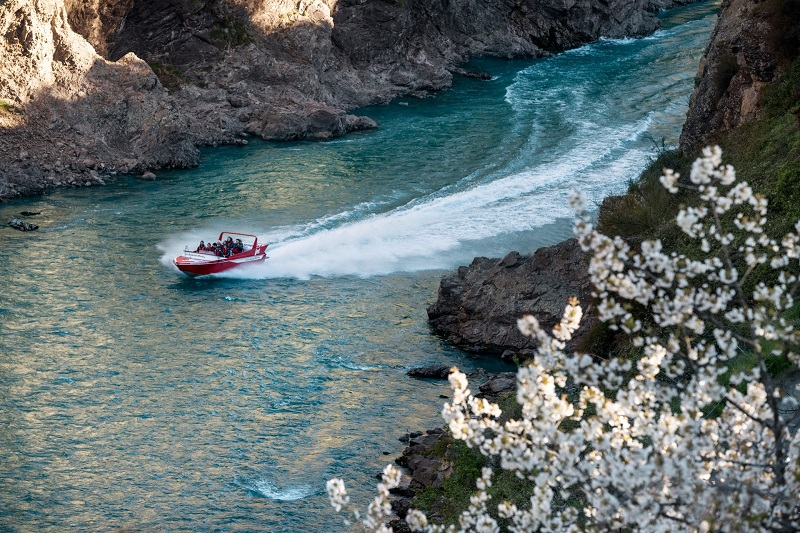 Jetboating in Hanmer Springs New Zealand