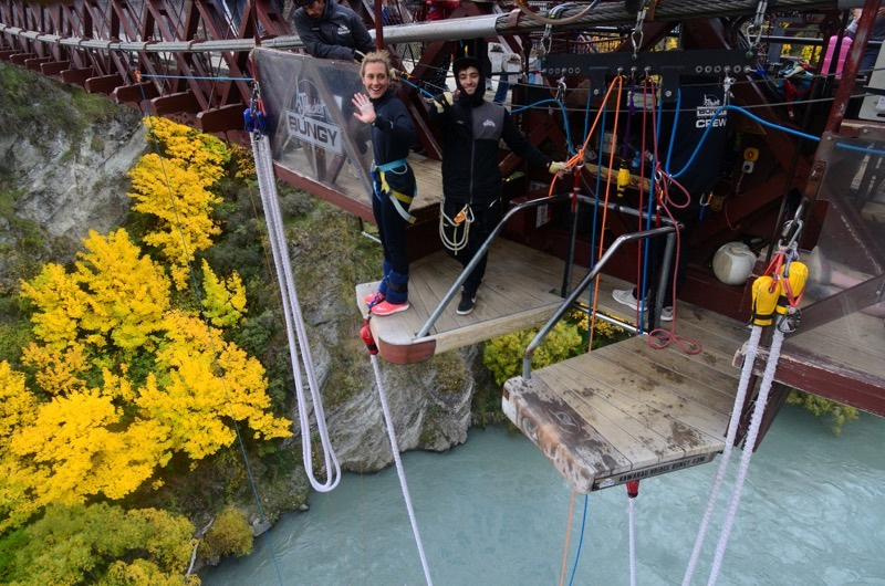 Lizzie Simmonds bungy jumping in New Zealand
