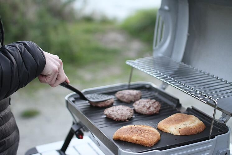 Barbecue during NZ campervan holiday
