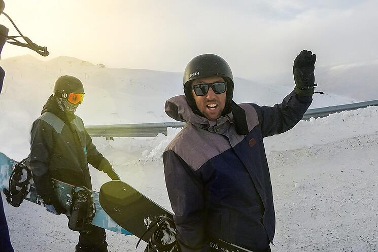 Snowboarding at Cardrona New Zealand