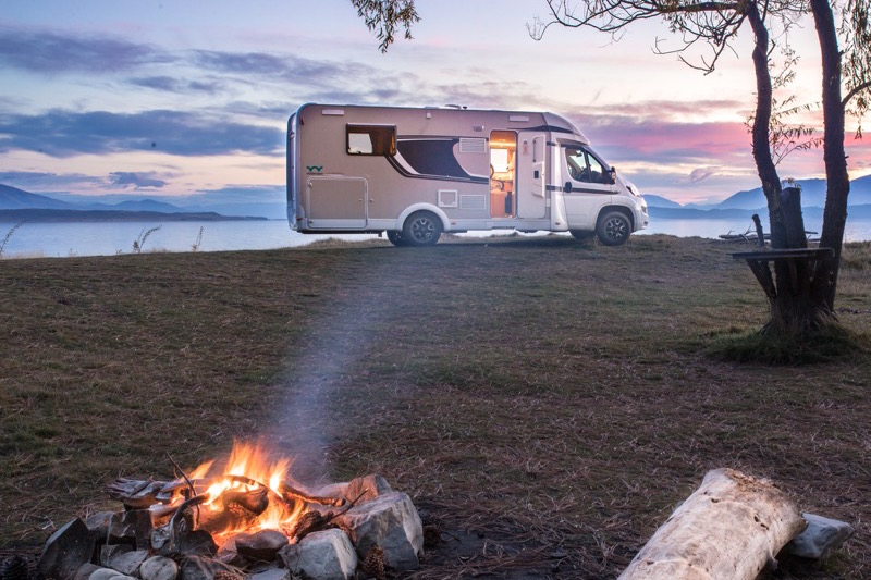 Motorhome Freedom Camping in New Zealand