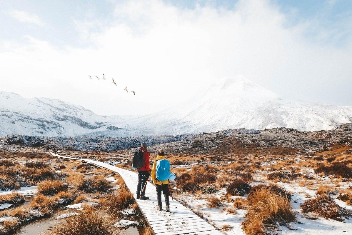 New Zealand winter scenery