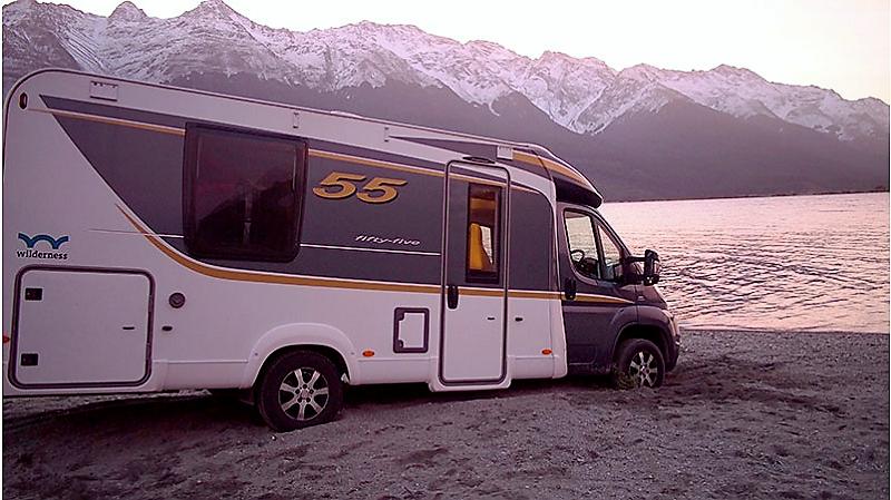 Rental insurance for campervan stuck on a beach