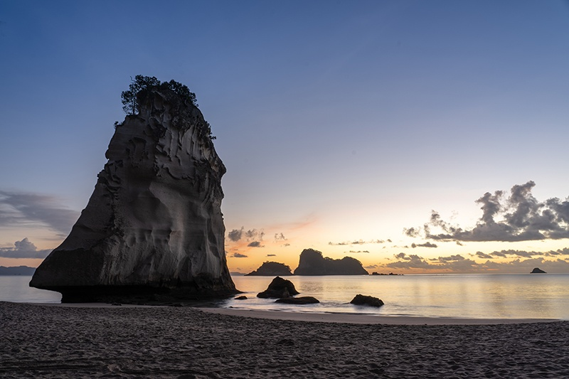 Sunrise at Cathedral Cove New Zealand