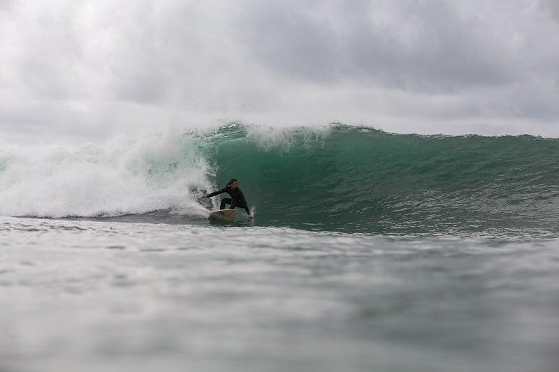 Surfing in Raglan New Zealand
