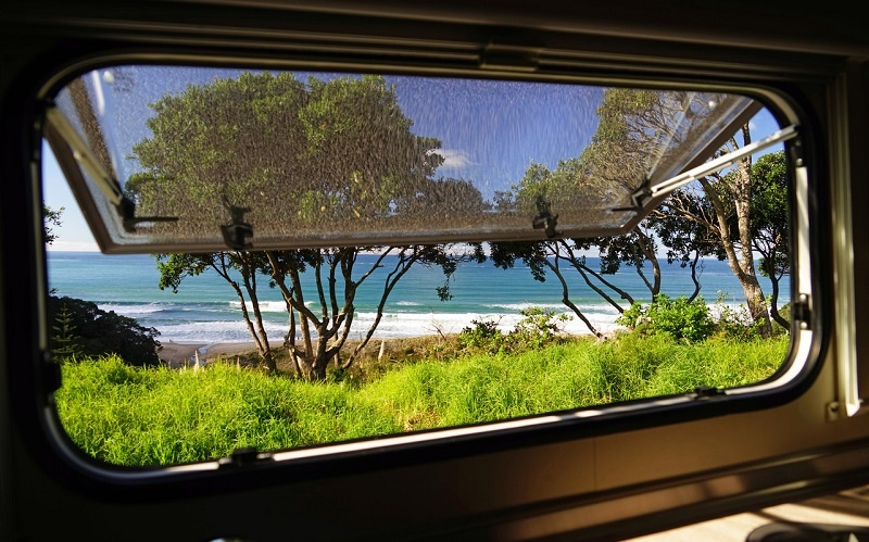 Waking up to a view on your New Zealand campervan holiday