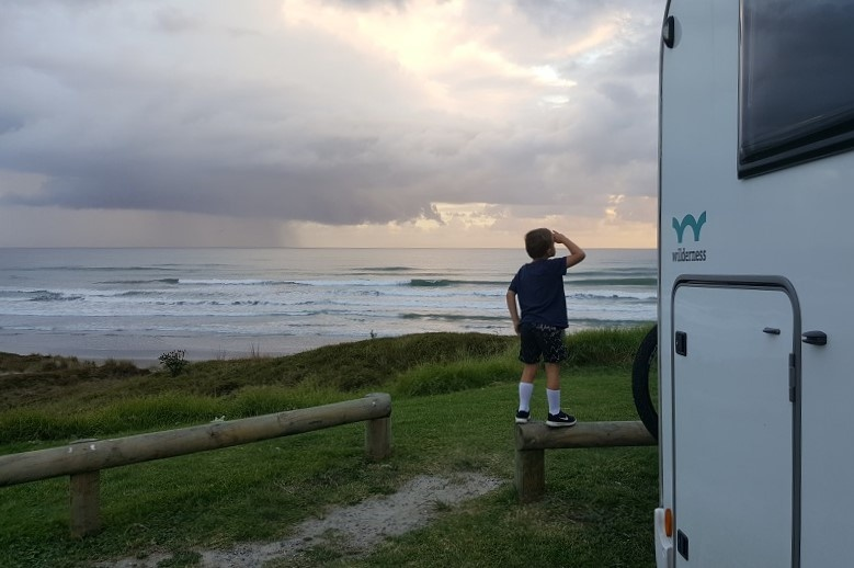 Wilderness Motorhome camping at Papamoa Beach