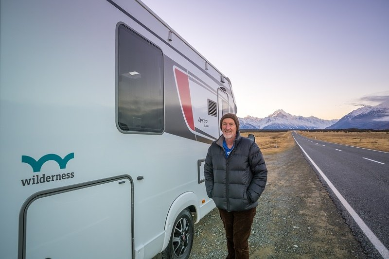 Wilderness Motorhome on the road to Mount Cook