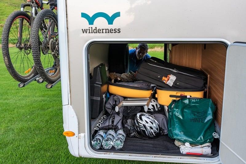 Wilderness Outback 4 campervan's garage