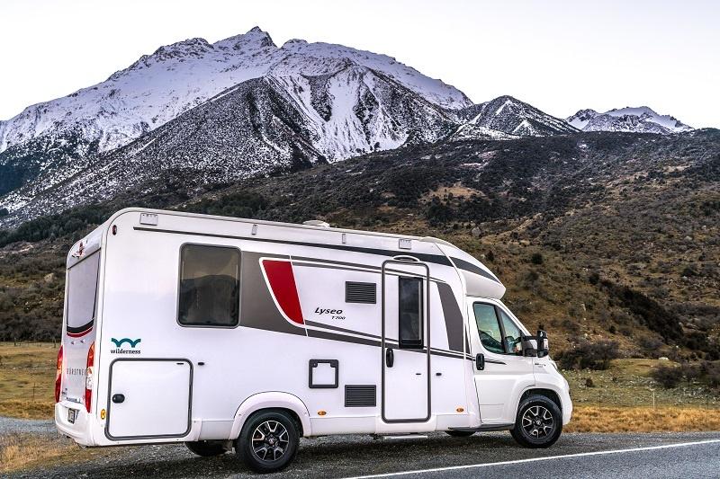 Wilderness motorhome parked near Mount Cook
