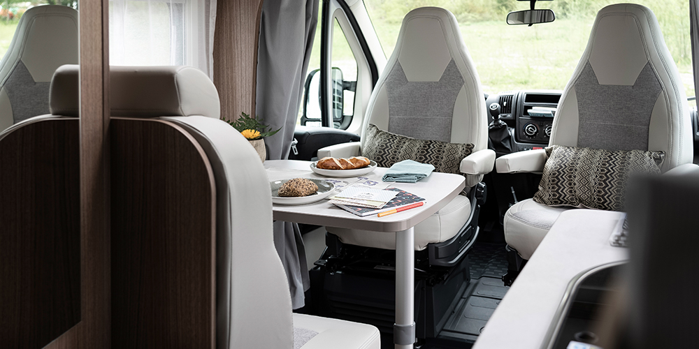2 berth motorhome lounge