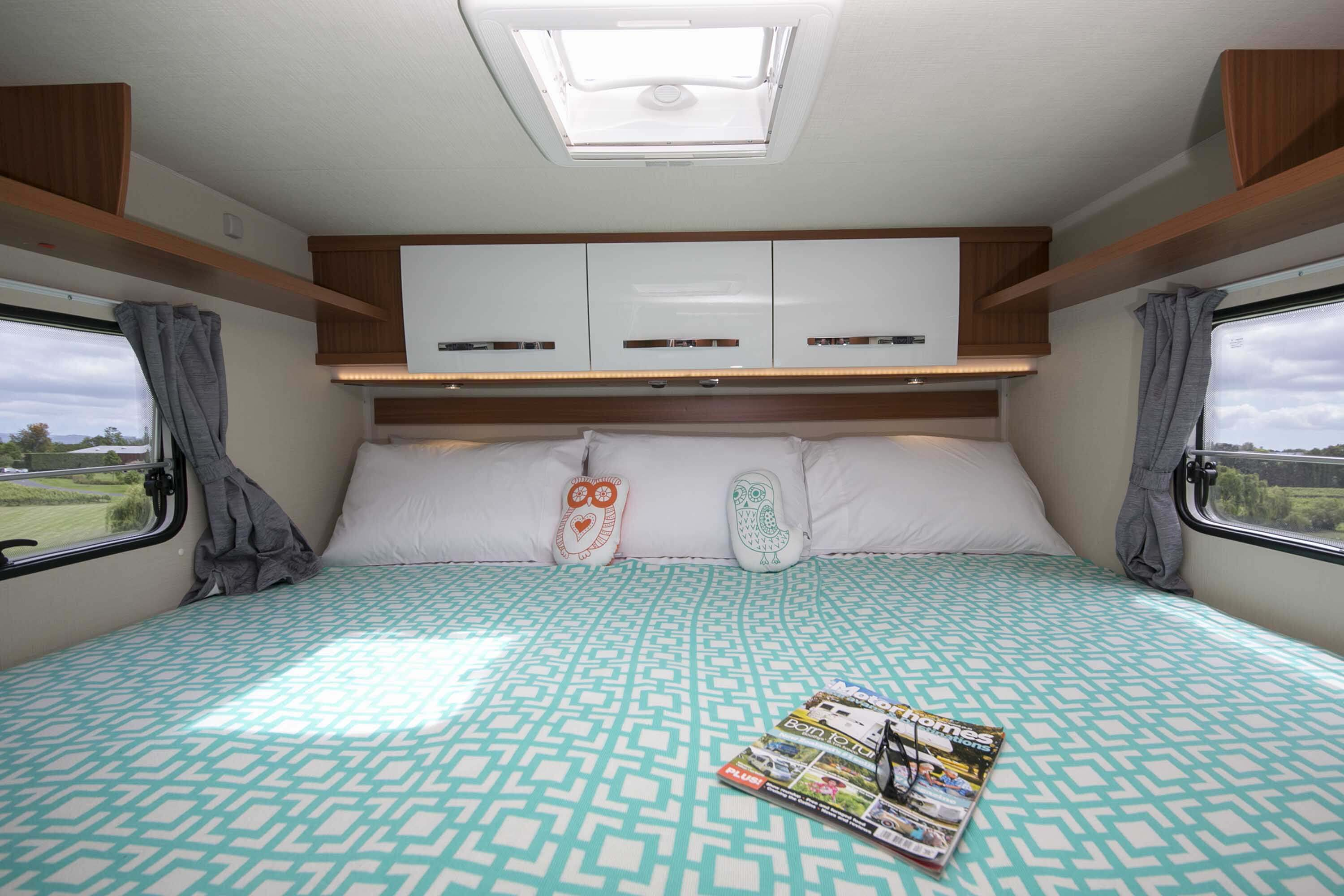 Rear bed in king configuration
