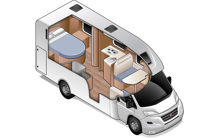 Double for 2 - Two Berth Motorhome | Wilderness Motorhomes - Interior #2