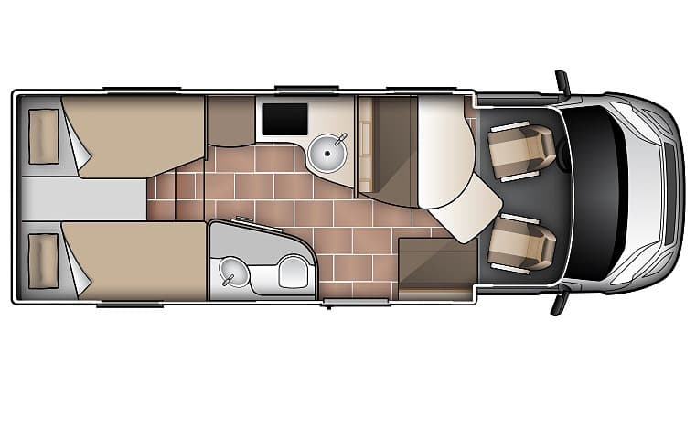 King/Twin for 2 - Two Berth Campervan | Wilderness Motorhomes - Interior #2