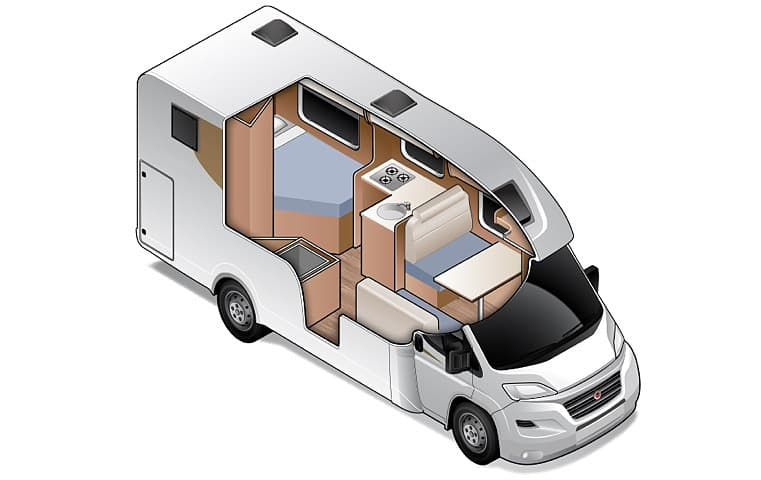 Compact for 4 - Four Berth Motorhome | Wilderness Motorhomes - Interior #3