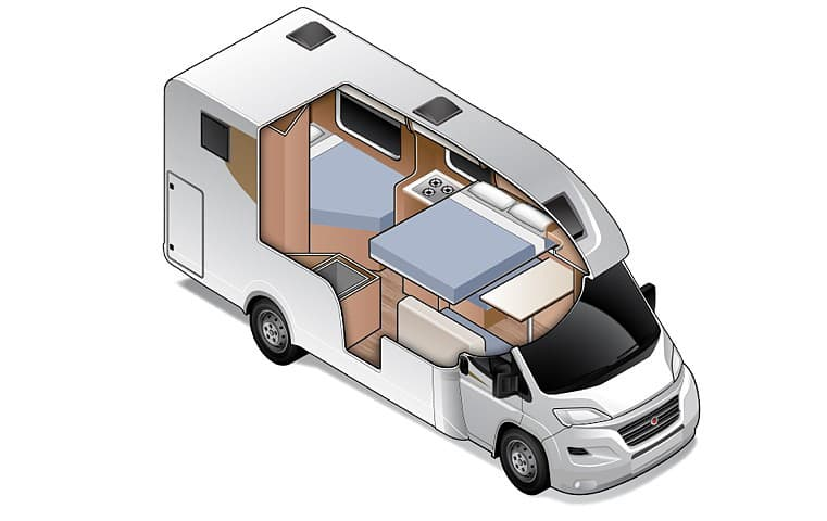 Compact for 4 - Four Berth Motorhome | Wilderness Motorhomes - Interior #4