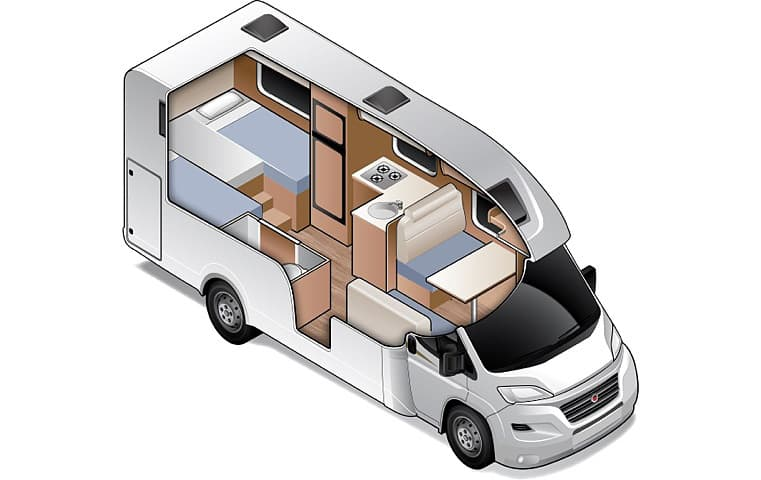 King/Twin for 4 - Four Person Campervan | Wilderness Motorhomes - Interior #2