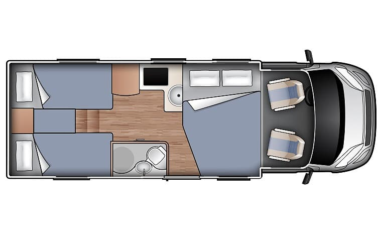 King/Twin for 4 - Four Person Campervan | Wilderness Motorhomes - Interior #1