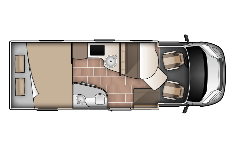 King/Twin for 2 - Two Berth Campervan   Wilderness Motorhomes - Interior #1