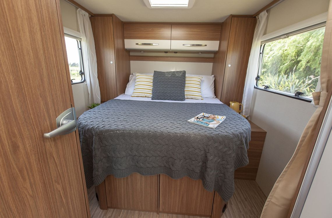 4 berth motorhome with island double bed