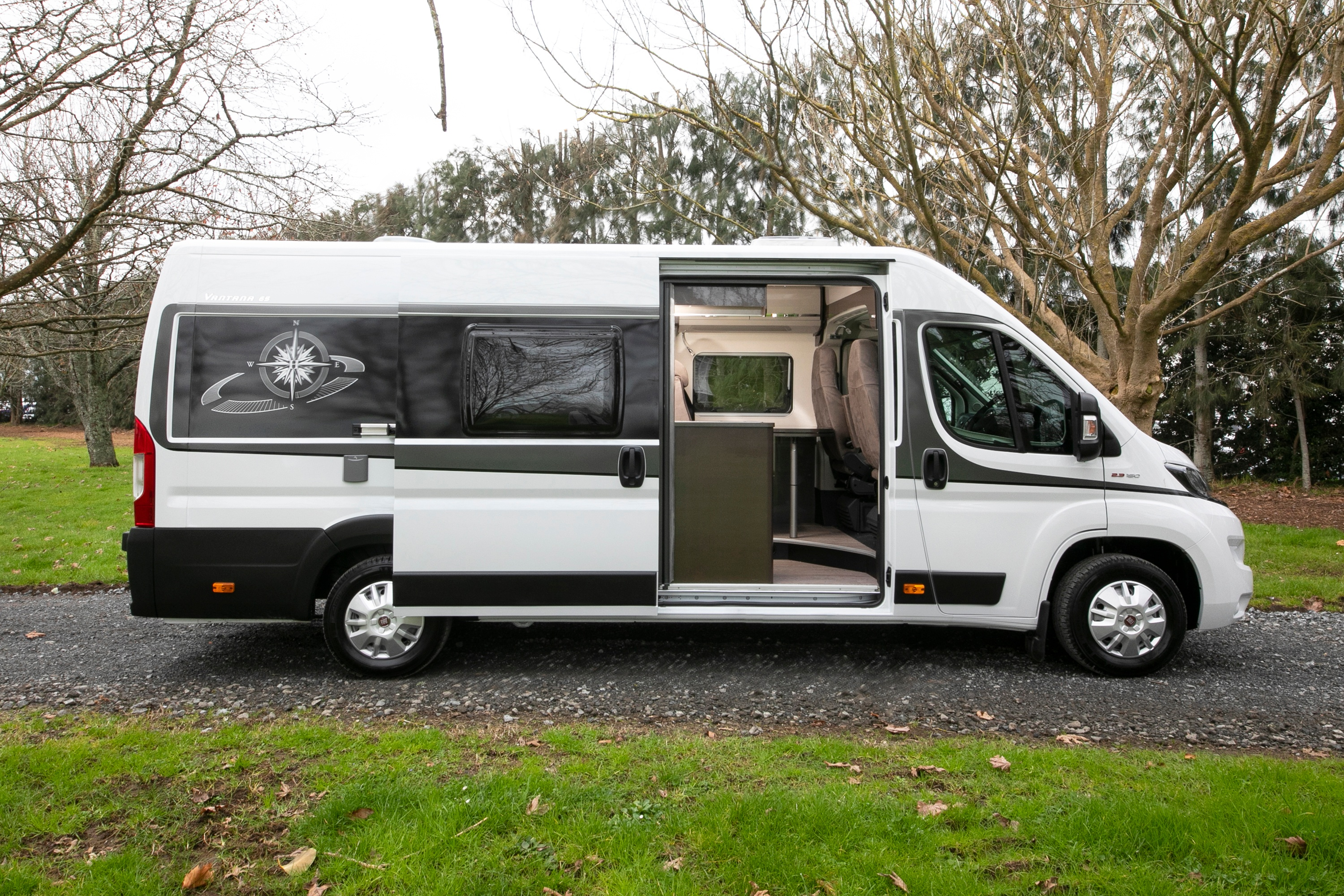 New Zealand Campervan rental - Vista 2 from Wilderness Motorhomes - Sliding door