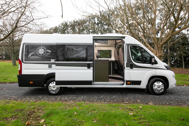 New Zealand Campervan rental - Vista 2 from Wilderness Motorhomes - Sliding door