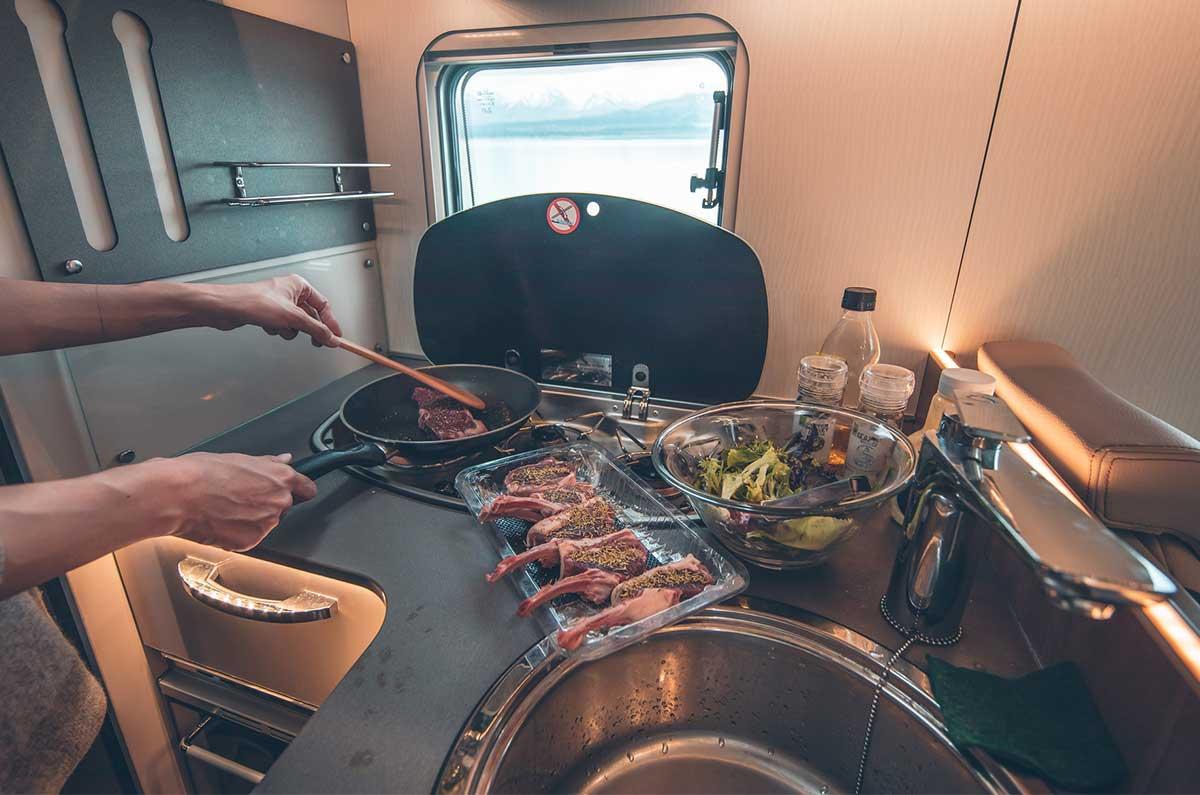 Cook-top-in-a-campervan