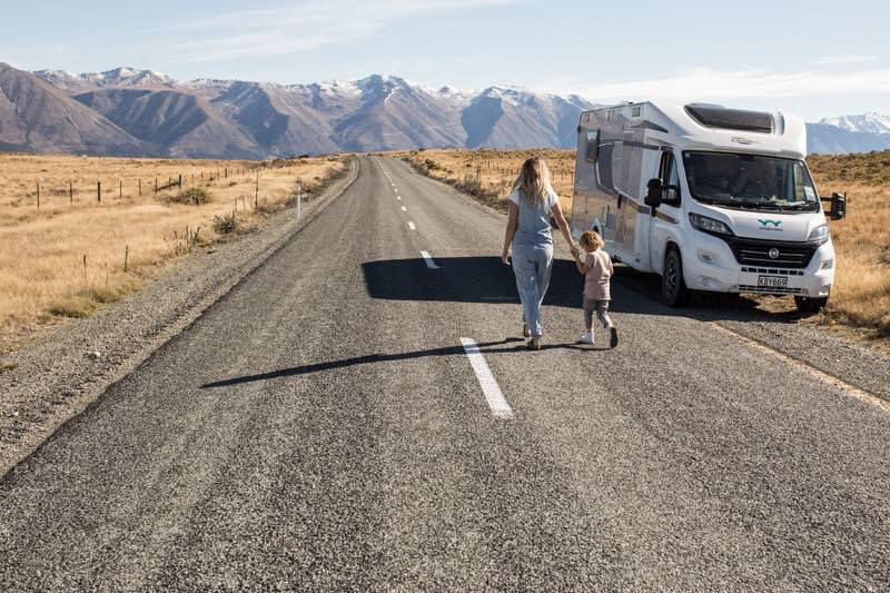 Family motorhome holiday in New Zealand