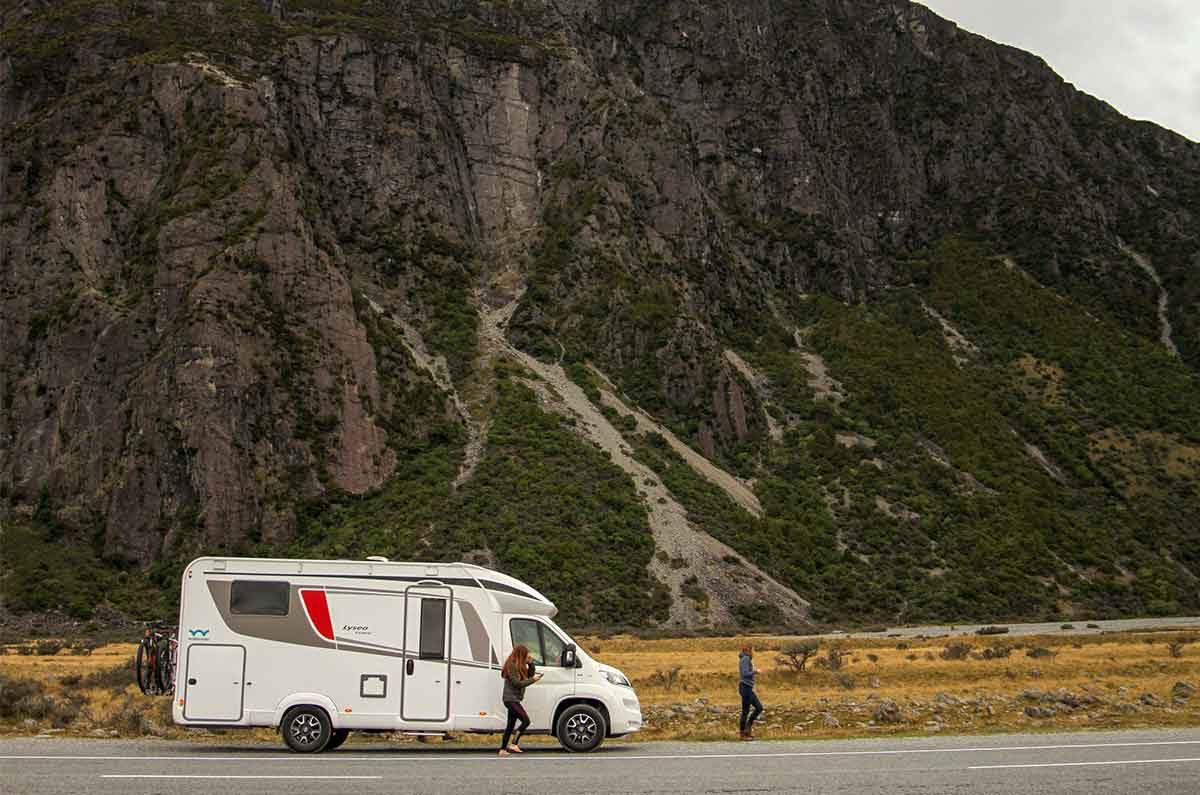 Motorhome-parked-on-side-road
