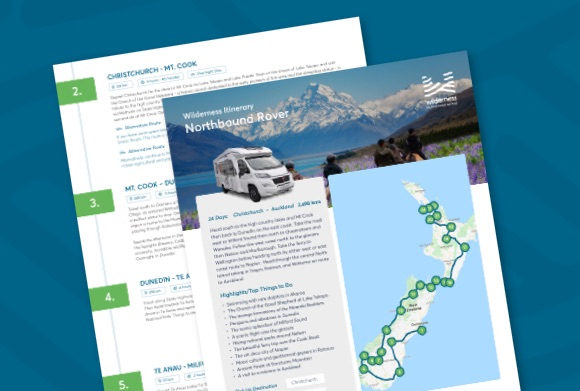 Christchurch to Auckland campervan road trip itinerary