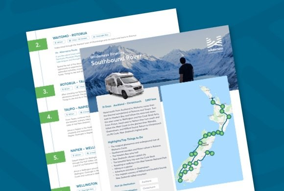 Auckland to Christchurch New Zealand campervan itinerary