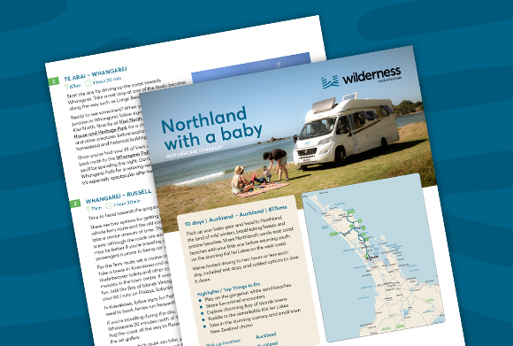 North of Auckland road trip - campervan with baby